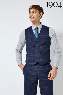 1904 Highlight Check Suit Waistcoat