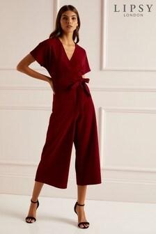 Lipsy Wrap Cullotte Jumpsuit