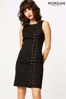 Morgan Bodycon Lace Up Dress