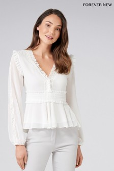 Forever New Ruffle Blouse
