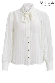 Vila Long Sleeve Bow Shirt