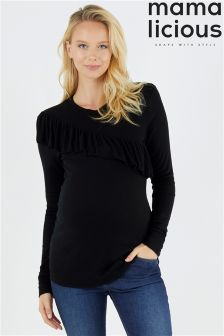 Mamalicious Maternity Long Sleeve High Neck Top