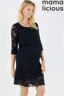 Mamalicious Maternity Nursing Lace Dress