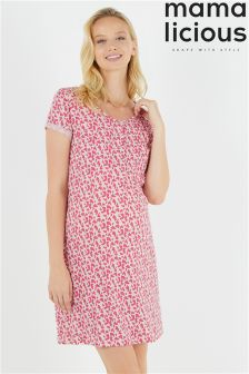 Mamalicious Maternity Nursing Short Sleeve Jersey Nightgown