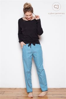 Cyberjammies Tile Print Trousers And Knit Top