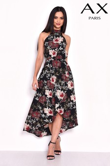AX Paris Printed Dip Hem Dress
