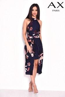 Платье миди с принтом AX Paris