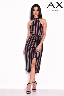 AX Paris Stripe Overlay Dress