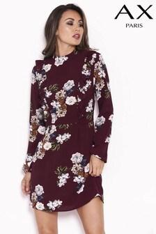 Платье с длинными рукавами и оборками AX Paris