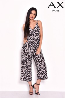 AX Paris Animal Print Culotte Jumpsuit