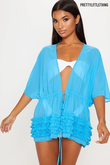 PrettyLittleThing Ruffle Detail Beach Coverup