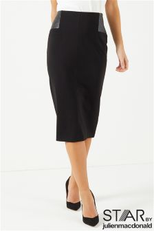 Star By Julien Mcdonald Cracked Ponte Skirt