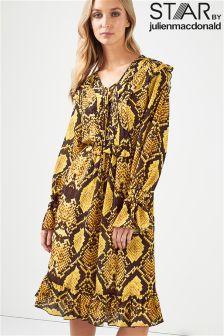 Star By Julien Macdonald Snake Print Wrap Dress