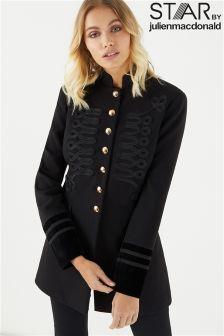 Star By Julien Macdonald Military Velvet Cuff Coat