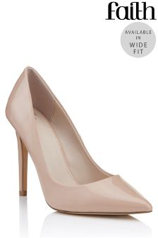 Faith Wide Fit Chloe Basic Court Shoes