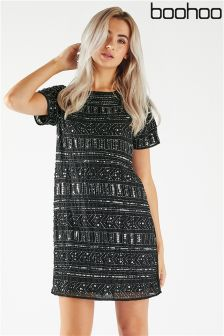 Boohoo Embellished Shift Dress