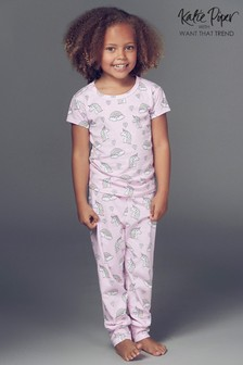 Want That Trend Kids Rainbow And Unicorn PJ Set