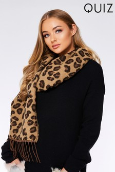 Quiz Leopard Knitted Scarf