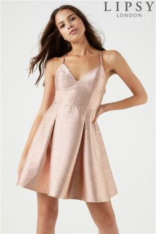 Lipsy Lurex Cami Skater Dress