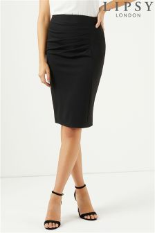 Lipsy Ruched Midi Skirt