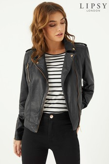 Lipsy Leather Biker Jacket