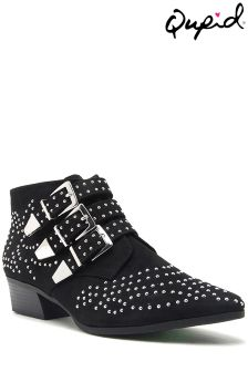 Qupid Studded Ankle Boots