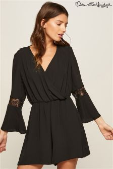 Miss Selfridge Lace Long Sleeve Playsuit