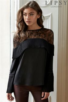 Lipsy Lace Pleated Blouse