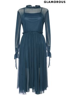 Glamorous Curve Mesh Midi Dress