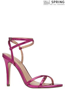 Call It Spring Cross Ankle Straps Sandals