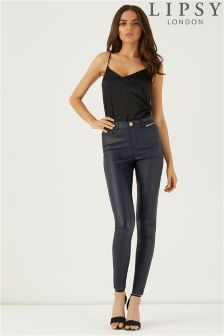 Lipsy Kate Mid Rise Skinny Coated Regular Length Jeans