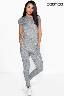 Boohoo Ribbed Casual Jumpsuit