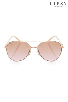 Lipsy Rose Gold Aviators