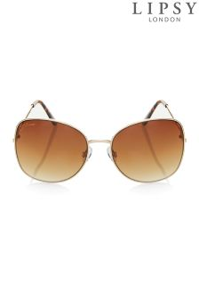 Lipsy Square Metal Glam Sunglasses