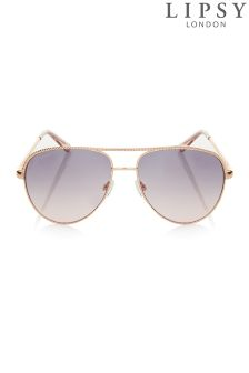 Lipsy Chain Aviator Sunglasses