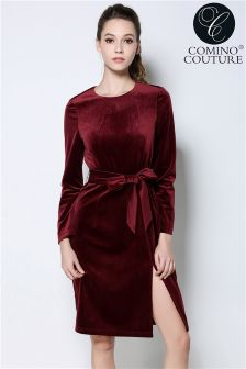 Comino Couture Velvet Dress