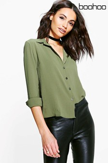 Boohoo Three-Quarter Length Sleeve Shirt