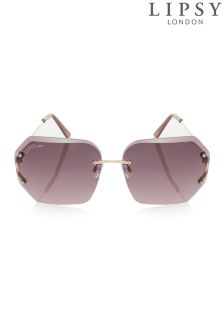 Lipsy Geometric Rimless Sunglasses