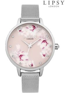 Lipsy Mesh Floral Watch