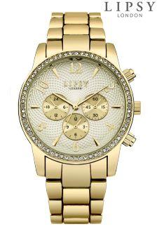 Lipsy Bracelet Diamanté Face Watch
