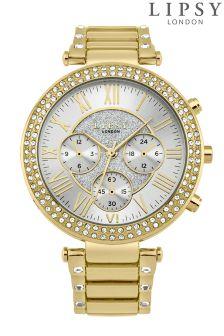 Lipsy Diamanté Bracelet And Face Watch