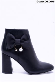 Glamorous Embroidered Ankle Boots