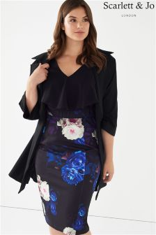 Scarlett & Jo Wide Collar Jacket