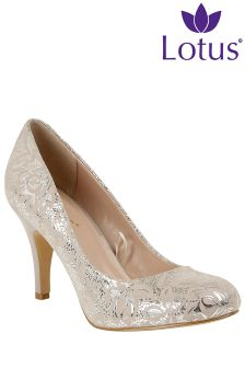 Lotus Metallic Court Heels
