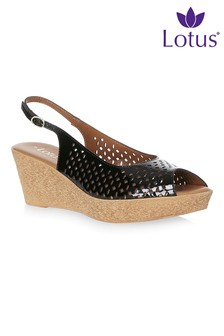 Lotus Slingback Wedge Sandals