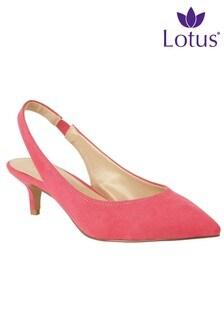 Lotus Slingback Heeled Court Shoes