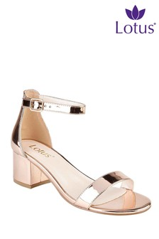 Lotus Block Heel Sandal