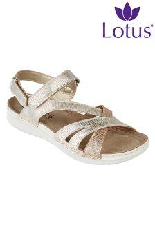 Lotus Flat Sandals