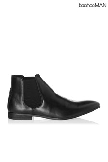 Boohoo Man Leather Chelsea Boot
