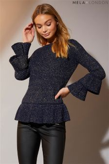 Mela London Double Trumpet Sleeve Jumper